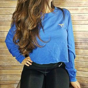 Victoria's Secret PINK blue cropped sequin top